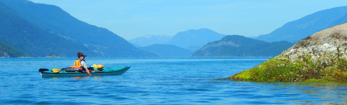 Kayaker, Sunshine Coast, British Columbia