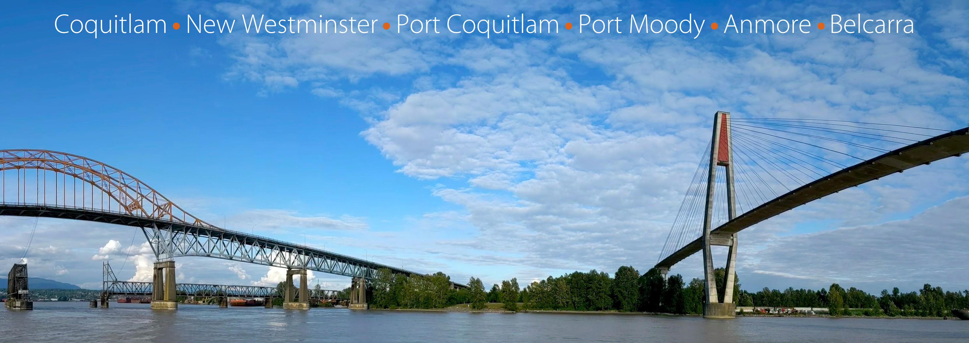 Coquitlam, New Westminster, Port Coquitlam, Port Moody, Anmore, Belcarra